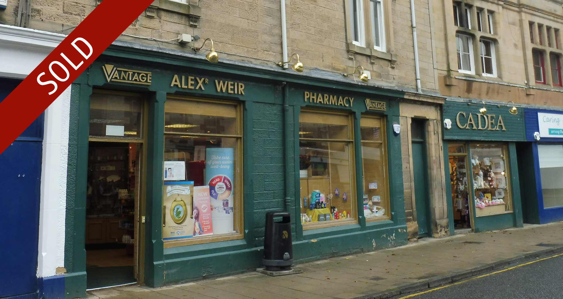 Pharmacy Sale – A Weir, Scotland achieved £1.46 in the £